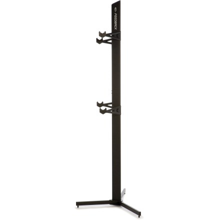 Fitness This space-saving indoor bike storage unit holds two bikes up off the floor in a stable and secure manner. - $155.00