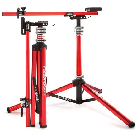 Fitness Feedback Sports Sprint Bike repair stand lets you service your steed without having to clamp the frame tubing, and it folds up small for easy transport. - $259.00