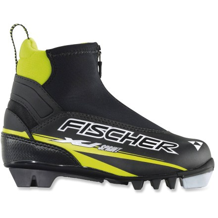 Ski The Fischer XJ Sprint junior cross-country ski boots offer young recreational skiers support and warmth for in-track skiing. - $48.83