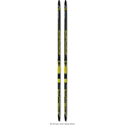 Ski The stiff Fischer RCR Vasa NIS skate skis feature top racing technologies, making them an excellent high-performance value for intermediate to advanced recreational racers. Lightweight Air Core features volcanic basalt fibers instead of fiberglass to reduce weight and create a consistent flex in all temperatures. PowerEdge construction provides lateral reinforcement for edge durability and optimal power transfer. Arrow-shaped World Cup sidecut keeps the skis running flat as long as possible for excellent speed and glide. Graphite content in the high-end WC Plus bases is fabricated for racing in a variety of conditions; bases feature structure that is ideal for changing snow conditions. Bases are prewaxed with fluorinated Swix wax for gliding performance and protection against dirt and oxidation. Fully automated Computer Flex Control process examines individual skis and matches them according to camber height, length and pressure. Movable bindings (sold separately) click securely into Nordic Integrated System (NIS) plates; quickly adjust binding position to adapt to snow, wax or skier weight. NIS uses a factory-bonded plate, eliminating screws that can compromise the strength and integrity of skis. NIS bindings fit boots with NNN racing/touring soles; bindings do not accommodate NNN BC soles. Please note: all sizes of this ski have a stiff flex; keep this in mind when consulting the size chart. . - $329.95