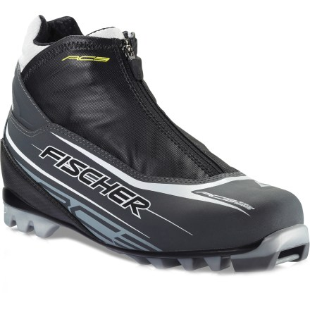 Ski The Fischer RC3 Classic cross-country ski boots are ready for the groomed trails of your local Nordic center. They're recommended for newcomers and ambitious athletes alike. Fischer RC3 Classic boots are built on Race Fit Concept lasts for a slightly snugger fit that efficiently transfers power to the skis. Thermal-formable foam cushions adapt to the shape of feet for a perfect fit. Fischer RC3 Classic cross-country ski boots have zippered lace covers that provide protection against cold and wet. Polyurethane soles with wide platforms provide excellent stability; stiff flex facilitates skate skiing. NNN soles are compatible with NNN classic bindings. - $99.93