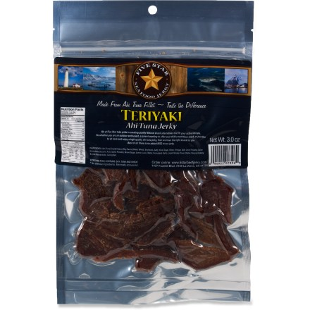 Camp and Hike Enjoy a different kind of jerky on your next adventure. Five Star Ahi Tuna jerky delivers great taste and comes in a convenient resealable bag. - $5.93