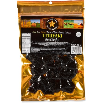 Camp and Hike Try the tastey Five Star Beef natural beef jerky the next time you have a taste for a delicious high-protein snack! - $5.93