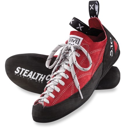 Climbing With all-leather uppers and sticky Stealth C4 soles, the Five Ten Coyote rock climbing shoes are great for all-around climbing. - $53.93