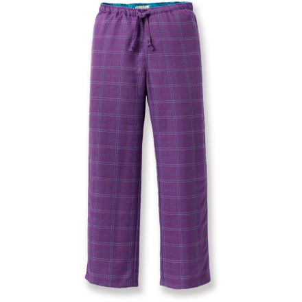 The girls' Flyshacker Fly-Dry Super flannel pants are comfortable enough for bed, but their durability and casual tailoring lets a kid wear them anytime. Polyester flannel with elastic pull-on waist and elastic cuffs makes these pants great for lounging around the house or cabin. The Flyshacker Fly-Dry Super flannel pants wick moisture and dry quickly for all-day or all-night comfort. - $5.83
