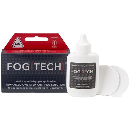Ski FogTech(TM) eliminates fogging on plastic or glass goggles, glasses, masks, shields or sunglasses. - $16.00