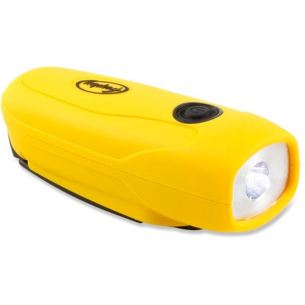 Camp and Hike Be ready for the next time you have car trouble or lose power with the dependable Freeplay Mini Sherpa flashlight. Its rechargeable battery, crank handle and single LED provide light when you need it. Flashlight has a built-in rechargeable NiMH battery so you never have to worry about buying batteries again. Crank the built-in handle for 1 min. to charge the NiMH battery and get 20 min. of light. 4 hrs. of charging via a standard USB cable (not included) provides up to 11 hrs. of use. Freeplay Mini Sherpa flashlight has a single LED that outputs 8 lumens to light up the night. - $29.95