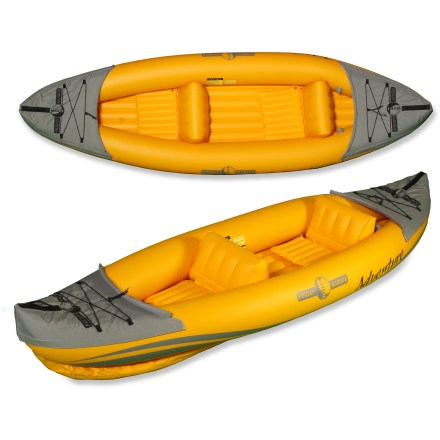 Kayak and Canoe You'll have a blast with the Friday Harbor Adventure tandem inflatable kayak. Pack it in to your favorite area, inflate, hit the water and forget your worries. - $139.83