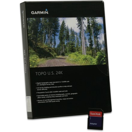 Camp and Hike The Garmin TOPO U.S. 24K microSD data card lets you add richly detailed topographic maps of the Northeast region to your Garmin GPS receiver. - $89.95