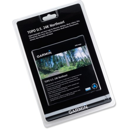 Camp and Hike The Garmin Topo U.S. 24K Northeast DVD lets you open USGS topographic maps on your computer and load them into your Garmin GPS receiver. - $99.95