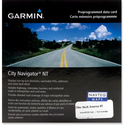 Camp and Hike Slip the Garmin City Navigator microSD data card - North America NT 2012 into compatible Garmin GPS units to avoid download hassles and drive North America like a local. - $39.93