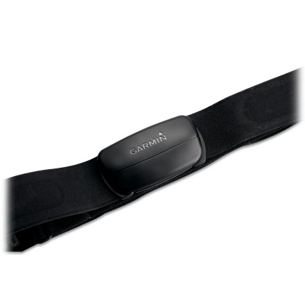 Fitness Optimized for use in congested areas like gym classes and starting lines, the Garmin Premium heart rate monitor chest strap features a soft fabric that is comfortable next to skin. ANT+ wireless technology sends a signal to your Garmin watch without picking up interference from other users' heart rate monitors. Compatible with the Dakota 20, Edge 305, Edge 500, Edge 705, Edge 800, Forerunner 610, Forerunner 410, Forerunner 210, Forerunner 110, Forerunner 305, Forerunner 310XT. Also works with Forerunner 405, Forerunner 405CX, Foretrex 401 and FR60, Oregon 300, Oregon 400c, Oregon 400i, Oregon 400t, Oregon 550, Oregon 550t and GPSMAP 62. - $69.95