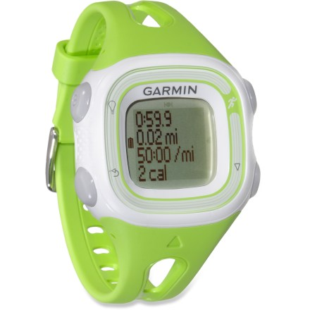 Fitness The Garmin Forerunner 10 GPS fitness monitor offers attractive style, powerful performance and user-friendly function in a running watch that won't exhaust your wallet. - $31.93