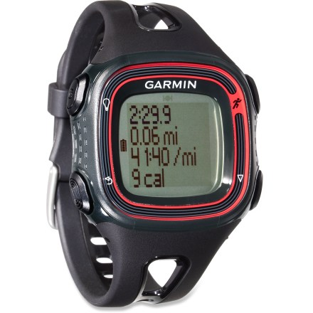 Fitness The Garmin Forerunner 10 GPS fitness monitor offers style, power and user-friendly function in a running watch that won't exhaust your wallet. - $31.93