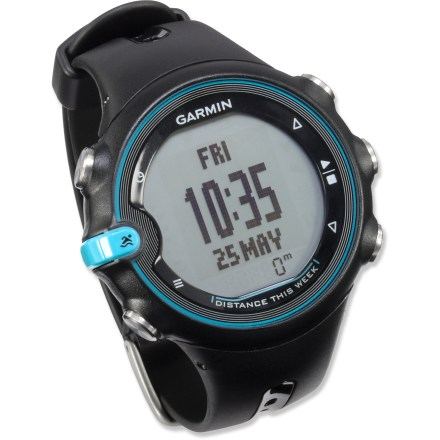 Fitness Designed for pool swimming, the Garmin Swim watch logs your distance, pace, stroke count and stroke type and features free wireless online analysis, storage and sharing of your data. - $74.83