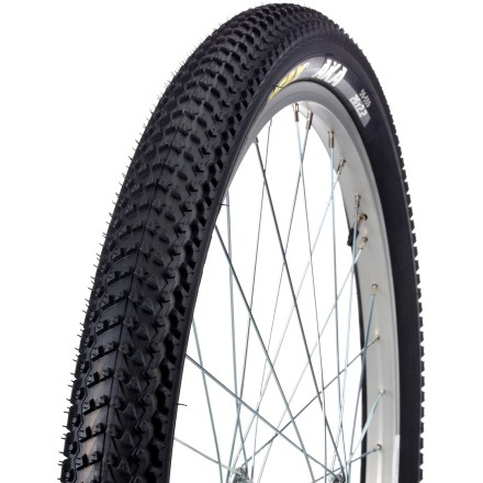MTB The Geax AKA 2.2 in. bike tire provides grip and low-rolling resistance on dry and compact terrains. Give it a try on rocks, sand, gravel and even grass! - $20.93