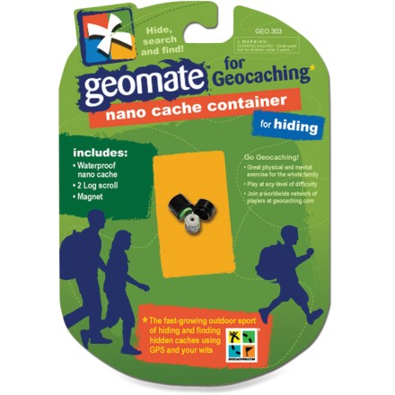 Camp and Hike The Geomate Geocaching Nano cache container is so diminutive it can be hidden in plain sight--perfect for crowded urban environments! - $1.83