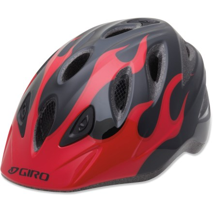 Fitness Kids don't think twice about fit systems and tech specs-they just want to ride! The Giro Rascal bike helmet has an easy fit system that allows your little rider to be on his or her way quickly. - $29.93