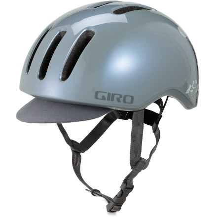 Fitness With lots of love for retro style, the Giro Reverb bike helmet brings back a classic look with modern protection. In-mold technology bonds the helmet's tough outer microshell to the impact-absorbent expanded polystyrene liner, creating a light, cool and strong helmet. Fit system offers a quick, self-adjusting fit for hassle-free comfort. Removable visor helps shields eyes from the elements. 9 in-line vents on the Giro Reverb helment help keep your head cool. - $29.83
