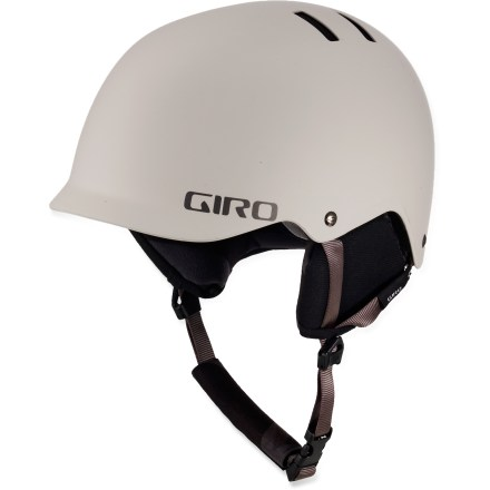 Ski The light weight, low profile and great features of the Giro Surface S snow helmet make it a versatile choice when sliding rails, catching air or cruising the slopes. Injection molded, high-impact shell with expanded polystyrene liner offers durable protection and a design that enhances wide-angle vision. Adjust pads inside the helmet to maximize comfort or completely remove them to make room for a beanie or goggles strap. When all padding is removed, an included subliner provides all the softness necessary for a comfortable fit. 6 vents with mesh covers move cool, fresh air through helmet while radiating heat and stale air out. Fit system features outrigger arms and an adjustment dial to fine-tune the fit; dial is easily operated, even with gloves on. Flexible pad at the base of the fit system conforms to head shape for a plush, personalized fit. Internal height adjustment compensates for different head shapes and goggles sizes. Security loop and deep Goggle Notch(TM) keep goggles attached to your helmet in the event of a major digger. Compatible with TuneUps audio systems, sold separately. The Giro Surface S snow helmet complies with ASTM F 2040 and/or CE EN 1077 alpine ski and snowboard helmet safety standards; for additional information see REI expert advice. - $47.83