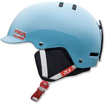 Ski The boys' Giro Vault snow helmet matches your budding skier's moves with a skate-inspired design and a glare-cutting brim. - $36.83