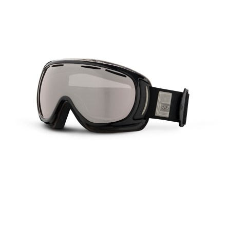 Ski These women's Giro Amulet snow goggles are ergonomically designed to supply a comfortable and secure fit. The Carl Zeiss Vision lens ensures clear, accurate optics. Goggles are designed to offer an optimal fit around facial anatomy, resulting in excellent comfort and helmet compatibility. Spherical polycarbonate, dual-layer True Sight(TM) lens is made by Carl Zeiss Vision and supplies superior clarity, accuracy and a full field of vision. Vents in lens above the gasket provide an escape route for moisture; antifog coating reduces moisture buildup on inside of goggles. Triple-density face foam delivers plush comfort and seals out the elements ,and is finished with a wicking microfleece. Titanium Adorn frame color has amber/rose-tinted lens, which allows 40% visible light transmission (VLT) and is well-suited for all-around use. Black Pearl frame color has a rose-tinted, silver-mirrored lens with 30% VLT, enhancing depth-perception and tuning light transmission for medium light. The women's Giro Amulet snow goggles are designed to fit medium-size adult faces. - $71.83