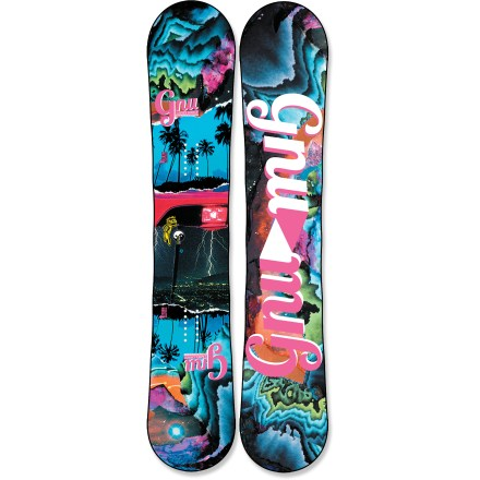 Snowboard The GNU Ladies Choice C2 BTX ASYM snowboard offers women riders one board that can handle it all. From the park to the slackcountry, this board is ready to rip. This board features a twin shape with asymmetric sidecuts to make carving the steepest mountainsides a breeze. C2 BTX technology features Banana Tech rocker between the feet and camber at the tip and tail, delivering amazing float whether you're riding regular or switch. Camber provides end-to-end stability and plenty of pop for boosting off natural terrain; Banana Traction technology offers carving performance and soft-snow float. Magne-Traction offers 7 contact points on each side of the board, resulting in amazing control regardless of snow conditions. Asymmetric twin shape means the heel-side sidecut has a slightly tighter radius than toe-side, making heel-side turns easier to get around. Mervin AG.5 wood core is both lightweight and strong. Sintered sidewalls transfer power to edges, allowing deeper turns and better grip. Biaxial glass strips enhance pop and control and give the board strength. Sintered base is not only fast, it's also durable and highly wax absorbent; you'll spend less time performing maintenance and more time riding. GNU Ladies Choice C2 BTX snowboard graphics designed by Matt French. . - $539.95