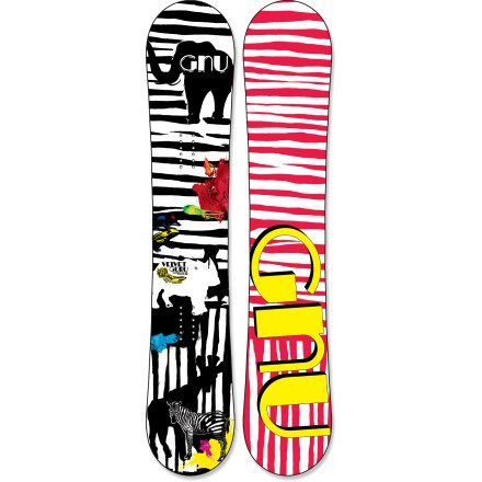 Snowboard Your park style will be as smooth as velvet when rocking the women-specific GNU Velvet Guru EC2 BTX snowboard. - $223.83