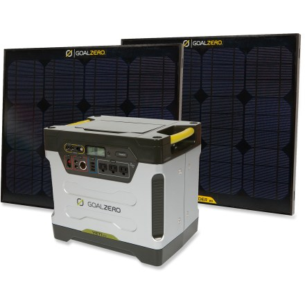 Camp and Hike The Goal Zero Yeti 1250 solar generator stands ready to silently power your big appliances, such as a refrigerator or freezer and home health-care equipment. - $1,999.95