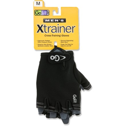 Fitness The GoFit Cross X-Trainer gloves add necessary protection for your hands during a weightlifting workout. - $8.93