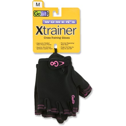 Fitness The GoFit Cross X-Trainer gloves for women provide necessary protection for your hands during weightlifting workouts. - $8.93