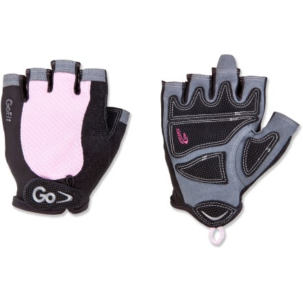 Fitness The women's GoFit Elite weight lifting gloves protect your hands and improve your grip during workouts with barbells and kettlebells. - $9.93