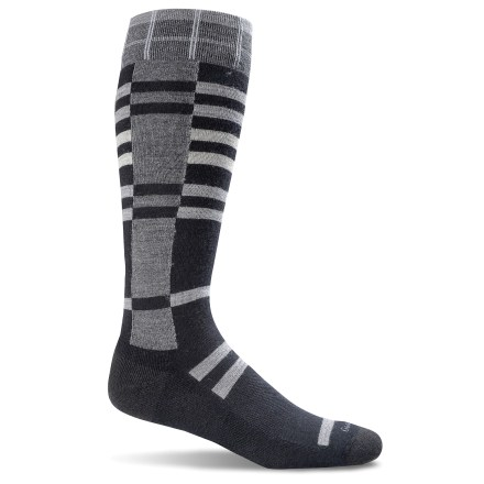 The Goodhew Mega Plaid socks are designed for comfortable, everyday performance-crafted on state-of-the-art machinery in American mills and made from homegrown, quality merino wool. Mega Plaid socks have cushioned bottoms. Merino/bamboo fiber blend balances the softness, durability and heat-regulating properties of merino wool with naturally antimicrobial and luxurious bamboo. Spandex is used throughout the entire sock to ensure a snug fit all day long and to prevent slipping inside shoes. An additional band of spandex knit into the socks to provide arch support and reduce sock slippage. Classic link toe seams provide long-lasting wear. Y-heel construction, introduced in the knitting of the socks, makes their shape more anatomically correct around the heels to reduce sock slippage in shoes. Goodhew Mega Plaid socks have turn welt tops to help keep the socks up and provide a clean top finish. *Discount will be applied when you check out. Offer not valid for sale-price items ending in $._3 or $._9. - $14.93