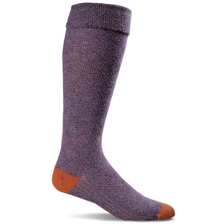 The Goodhew Highlander socks are designed for comfortable, everyday performance-crafted on state-of-the-art machinery in American mills and made from homegrown, quality merino wool. Merino/bamboo fiber blend balances the softness, durability and heat-regulating properties of merino wool with naturally antimicrobial and luxurious bamboo. Spandex is used throughout the entire sock to ensure a snug fit all day long and to prevent slipping inside shoes. Goodhew Highlander socks feature link-and-link patterning. Flat toe seams ensure you don't even notice they're there. *Discount will be applied when you check out. Offer not valid for sale-price items ending in $._3 or $._9. - $15.93