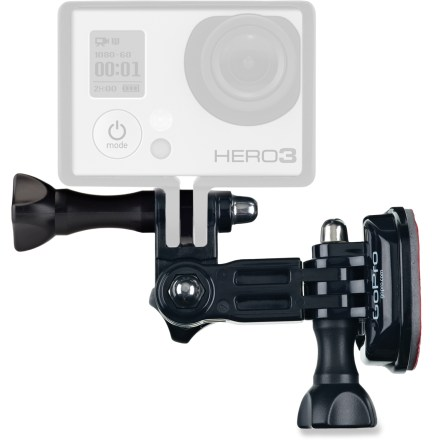 Entertainment This GoPro side mount lets you attach your GoPro camera (sold separately) to the side of a vehicle, helmet or other gear with 3-way pivoting adjustability to make aiming easy. - $9.83