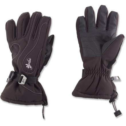 Ski The comfortable Gordini Fall Line II soft-shell gloves wrap your digits in waterproof and breathable protection when you're taking on the slopes in cold, wet weather. Breathable Aquabloc(R) inserts are waterproof, windproof and breathable with sealed seams for complete weather protection. Polyester insulation manages moisture and keeps hands warm. Toggle drawcord closures keep out snow, and wrist cinch straps ensure a snug and comfortable fit. Gordini Fall Line II gloves feature digital-grip synthetic leather palms and fingers. Special buy. - $25.83