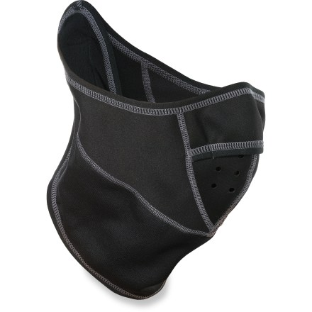 Ski The Gordini Chill Stop mask with scarf protects your face and neck from harsh conditions. Polyester/spandex blend 4-way stretch fabric features windproof panels over the mouth and nose. Flatlock seams maximize motion and minimize abrasion. Special buy. - $11.83