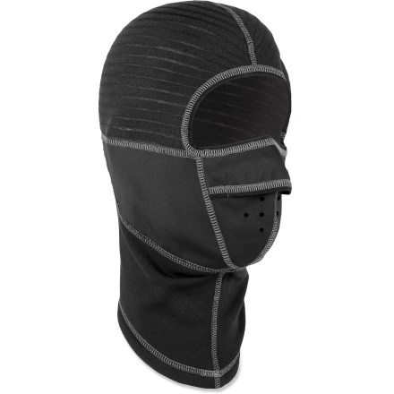 Ski The Gordini Chill Stop balaclava features 4-way stretch fabric for a great fit. A windproof mouth, nose and ears offer superior protection. Polyester fabric is blended with spandex and wool for a cozy, stretch fit. Flatlock seams maximize motion and minimize abrasion. Special buy. - $12.83