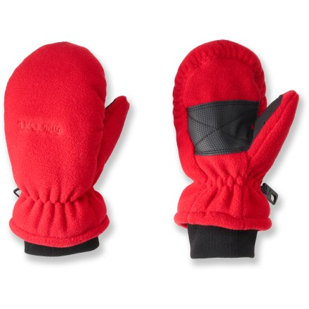 Ski The Gordini Fuzzy waterproof mittens for kids feature soft, knit cuffs and cozy fleece all over. - $8.73