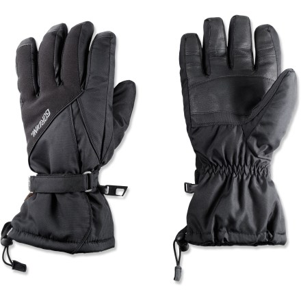 Ski The Gordini Prima gloves for men are a sound choice for snowsports enthusiasts looking to stay warm and dry on the slopes. AquaBloc(R) Heatrap(R) construction keeps hands warm and dry. Seam-sealed liners keep water out yet allow vapor emitted from user's skin to pass through; hands stay dry and warm. Leather palms and fingertips provide sure grip. Gauntlets with cordlock closures ensure that heavy weather stays outside; rip-and-stick closures snug the gloves around wrists. Precurved for a natural fit; stretch panels allow easy flex. Special buy. - $29.93