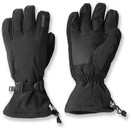 Ski These Gordini soft-shell gloves provide your hands with a warm barrier from the cold. Suitable for active endeavors, gloves provide runners and cross-country skiers protection from wind and water without excess bulk. Polyester and nylon blend shell fabric is highly wind and water-resistant. Leather palms provide durability and sure grip. Polyester tricot lining adds softness and warmth. Suitable for use as a liner in glove or mitten shells. Special buy. - $36.93