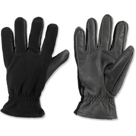 Ski The Gordini Leather and Fleece gloves are the perfect choice for casual outings. Rich leather and polyester fleece gloves feature polyester fleece on the back of hands and leather on the palms and fingers. Soft polyester tricot lining is soft against the skin and offers extra warmth. Care: do not wring gloves out, do not turn them inside out and do not leave wet gloves in cotact with clothing. If wet, dry these gloves at temperatures below 125deg F. Special buy. - $8.73