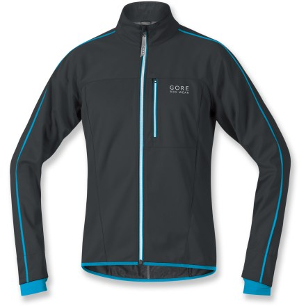 Fitness For cold weather protection on the singletrack, the GORE BIKE WEAR Countdown 2.0 Soft bike jacket seals out the weather while maintaining its breathability. Gore WINDSTOPPER(R) fabric eliminates windchill, yet it's breathable and capable of quickly dissipating excess moisture to keep you dry and warm. WINDSTOPPER soft-shell fabric offers soft comfort with a wide range of movement; it sheds rain and snow and dries quickly. Full-length zipper with windflap stops cold air leakage; comfort cut collar seals out the elements. Sleeves feature an inner sleeve cuff with thumbholes to seal in warmth. Long in back for added coverage; stretch hem keeps cold air from creeping up your backside. Multiple reflective accents on the front, back and sides enhance your visibility in low light. GORE BIKE WEAR Countdown 2.0 Soft bike jacket features twin zippered rear pockets for food and gear storage; zippered chest pocket stores extras. - $118.93