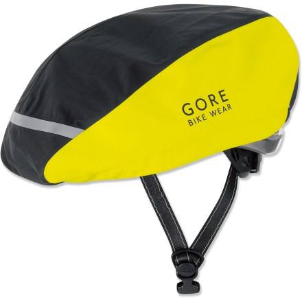 Fitness The GORE BIKE WEAR Universal Neon Helmet cover blocks chilly drafts and keeps out rain and snow for a more enjoyable ride. Made with Gore-Tex(R) PacLite(R), which is specifically engineered to be light, packable and more breathable than other 2- or 3-layer Gore-Tex fabrics. Incorporates an adjustable hem width for windproof, waterproof protection that allows head moisture to escape; adjust using just 1 hand and the elastic drawstring and cord. GORE BIKE WEAR Universal Neon Helmet cover has a reflective band on the front and back that helps to increase visibility in low light. - $34.93