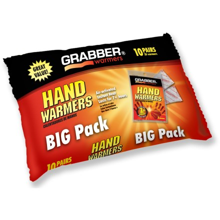 Camp and Hike These convenient Grabber hand warmers help keep your hands comfortable in chilly weather. - $10.00