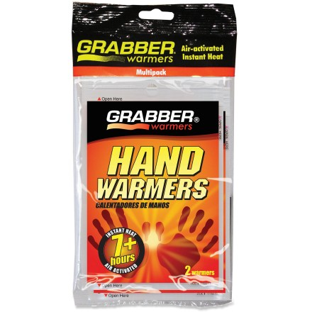 Camp and Hike Keep these convenient Grabber hand warmers close for chilly winter days. - $2.93