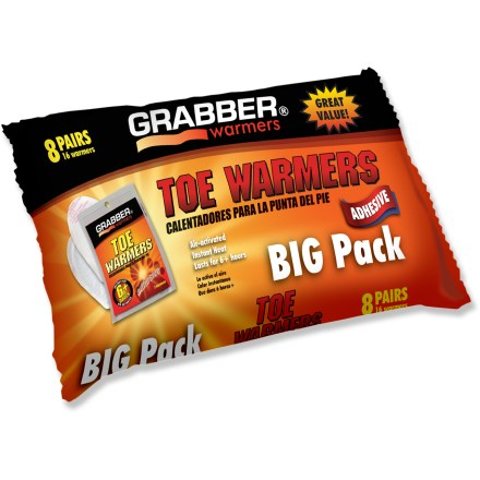 Camp and Hike These Grabber toe warmers provide quick relief on cold winter days. - $11.50