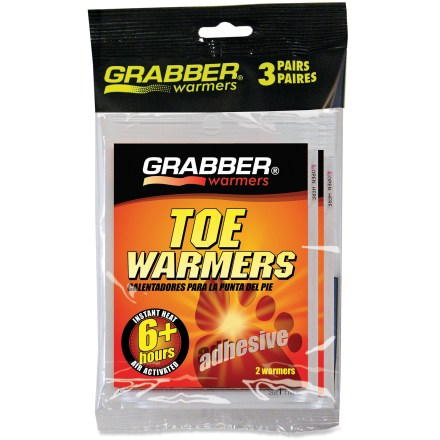 Camp and Hike These Grabber toe warmers provide quick relief for cold toes on winter days. - $5.00