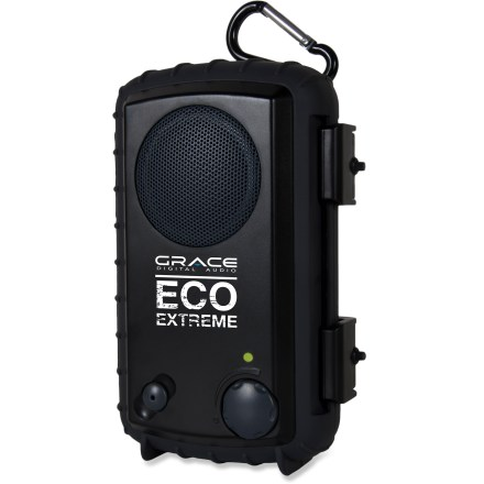 Fitness The Grace Digital Audio Eco Extreme Rugged All Terrain speaker case offers a waterproof, protective shell for an iPhone, iPod Touch, Motorola Droid, Blackberry or other cell phones and MP3 players. - $15.83