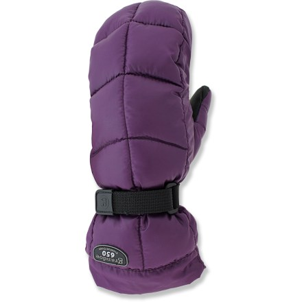 Ski The Grandoe Mother Goose mittens are filled with natural down insulation to keep your hands warm on winter adventures. Quality 650-fill-power goose down is warm, lightweight and compressible. Waterproof, breathable inserts keep out moisture from snow and rain. Leather palms give you a good grip of your ski poles. Soft polyester tricot lining is comfortable next to skin. Pull the shockcord at the cuffs to keep cold air and snow out. - $44.93
